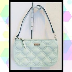 KATE SPADE Small Mint Green Quilted Leather Purse